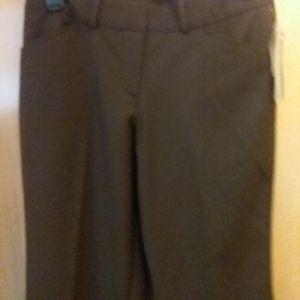 Worthington womens brown pants size 4 petite